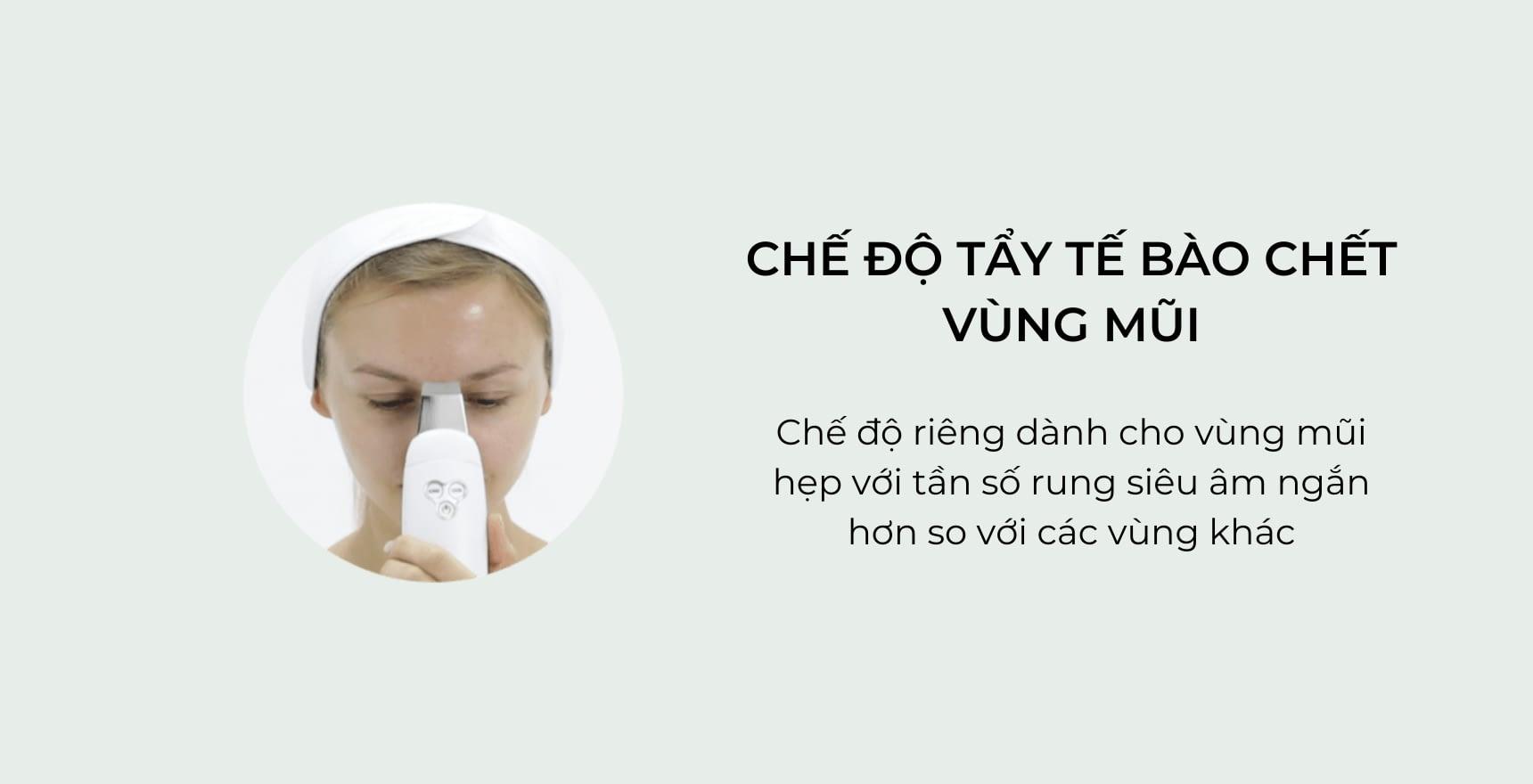 Chế độ tẩy tế bào da chết vùng mũi