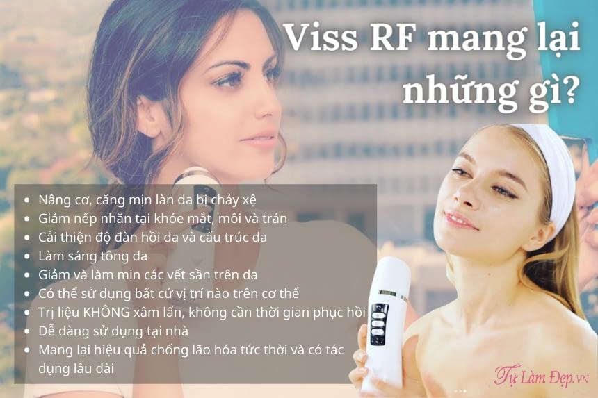 Viss RF mang lại nhiều hiệu quả cho da mặt của bạn