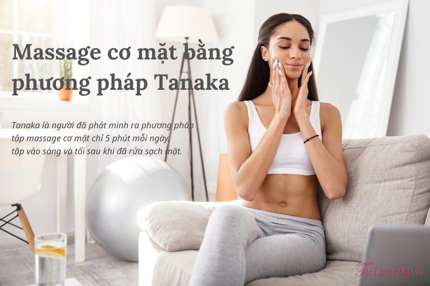 Massage cơ mặt bằng phương pháp Tanaka